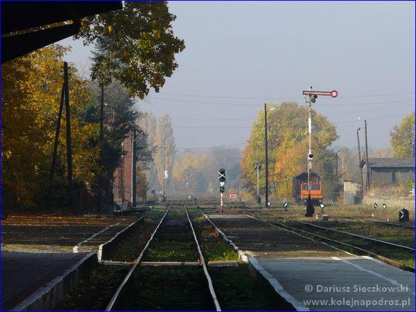 Prudnik - dworzec kolejowy - widok w stronę Szybowic