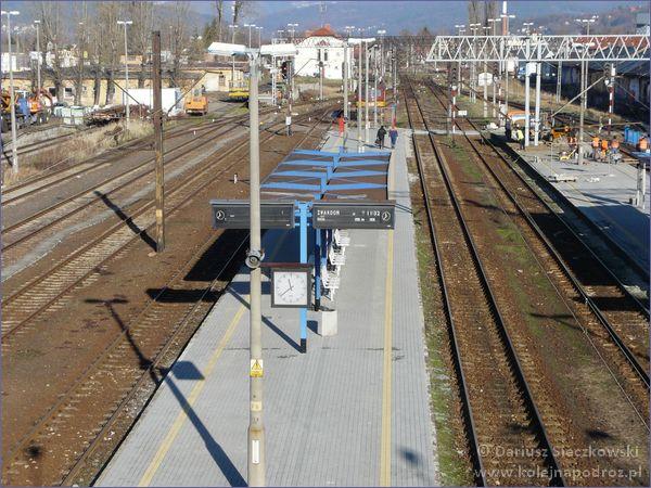 Żywiec - dworzec kolejowy - peron 3