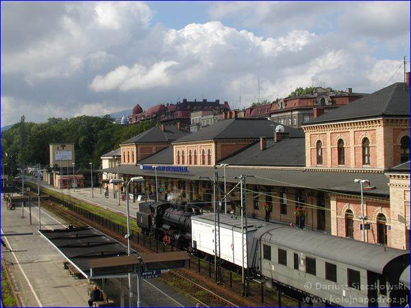 Pociąg retro w Bielsku-Białej