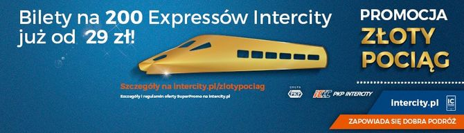 Złoty pociąg – promocja PKP Intercity