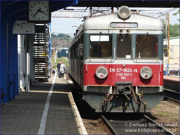 Peron 2 dworca w Kępnie