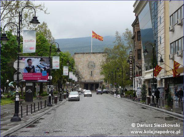 Skopje - widok na stary dworzec kolejowy