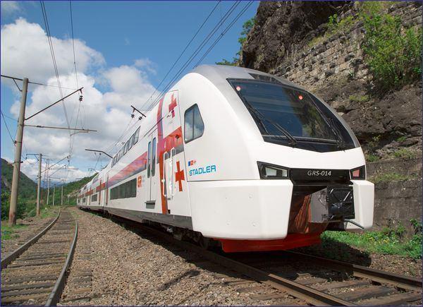 Pociąg Stadler Kiss - najnowszy nabytek kolei gruzińskich (źródło: materiały prasowe kolei gruzińskich)