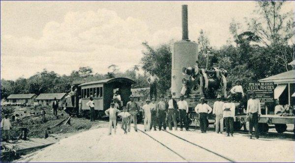 Gujana pociąg