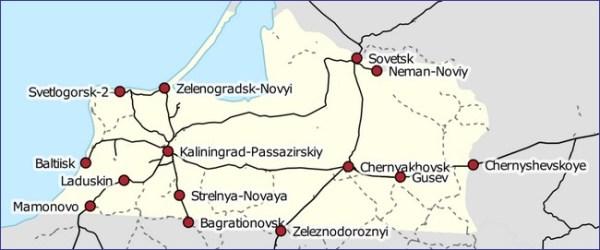 Kaliningrad mapa