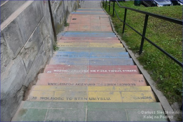 Tęczowe schody Kraków