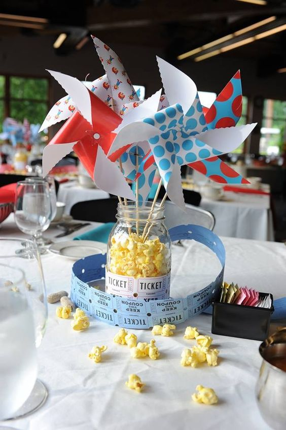 table centerpiece, wedding table centerpiece, wedding details, wedding DIY, circus wedding