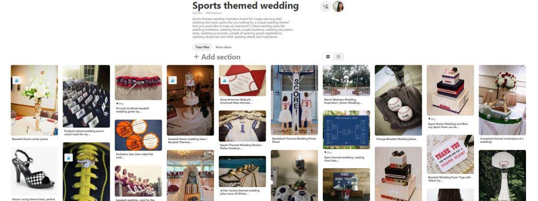 wedding theme,wedding board,sports wedding