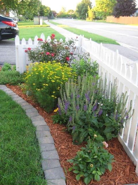 Квітники під парканом та навколо дому 25 оригінальних ідей (24)