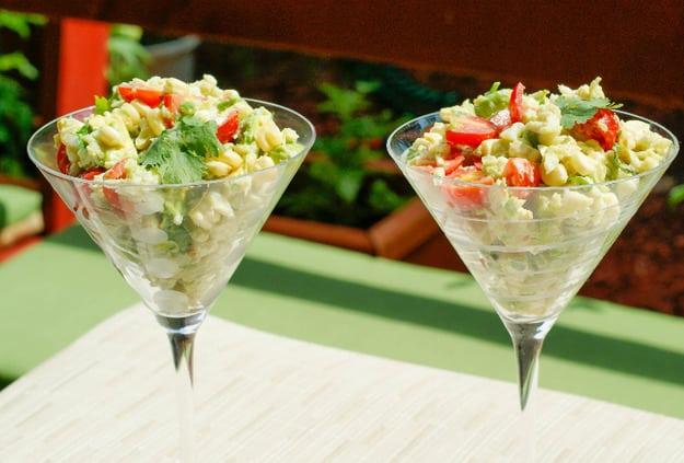 Салат з крабовим м'ясом, без майонезу