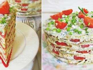 Кабачковий торт з помідорами: покроковий рецепт