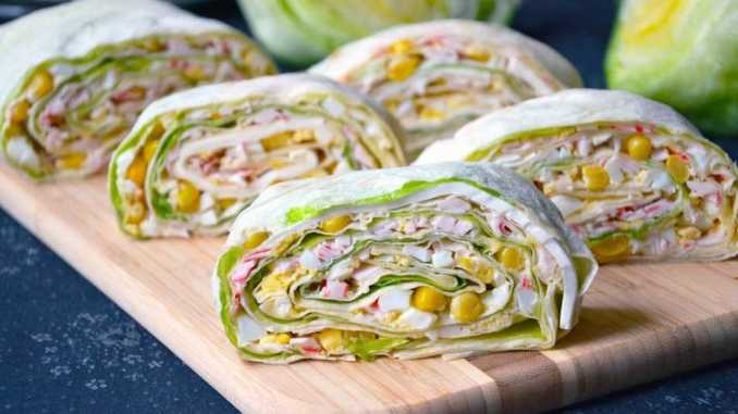 Рулети з лаваша: 20 видів смачних начинок