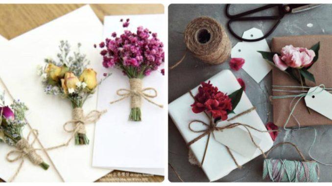 Подарунки та листівки з міні-букетом: цікаві ідеї (фото)