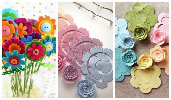 Квіти з фетру своїми руками: ідеї, шаблони, схеми виготовлення (40 фото)
