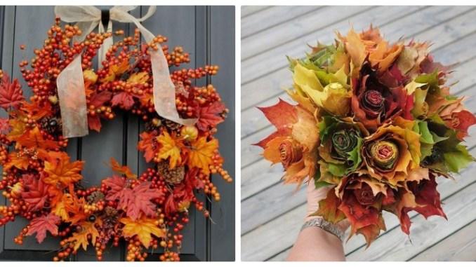 Вироби з осіннього листя: 20+ ідей для натхнення (фото)