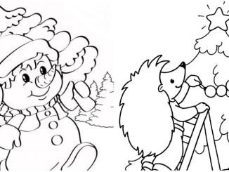 Новорічні розмальовки для дітей — 25 шаблонів для завантаження