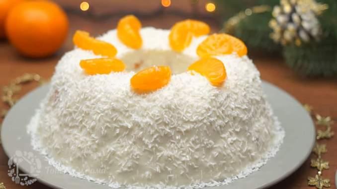 Торт з мандаринами без випічки — ніжний та легкий десерт на святковий стіл