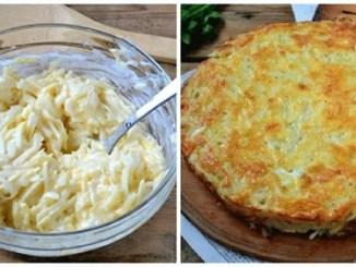 Смачна та ситна запіканка з тертої картоплі з сиром і часником
