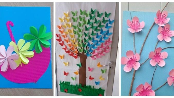 Творимо з дітьми: весняні вироби, листівки, аплікації з паперу (40 ФОТО)