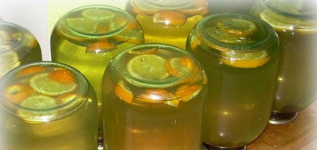 Березовий сік з лимоном, апельсином