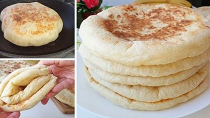 Пісний турецький хліб на сковороді. Більше не купую в магазині