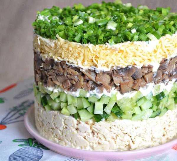 Багатошаровий салат «Берізка»
