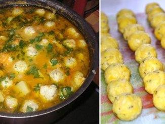 Ароматний швидкий суп з сирними галушками і овочами — покроковий рецепт