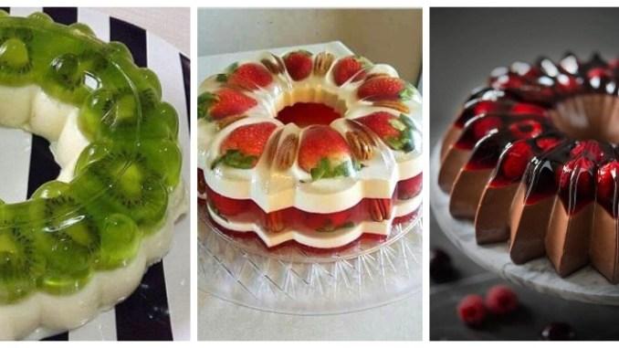 Ось як красиво можна оформити торт-желе. ФОТО та РЕЦЕПТИ