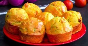 1 кабачок, 1 помідор і 3 яйця — апетитні кабачкові мафіни за 30 хвилин!