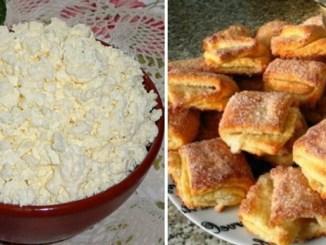 Сирне печиво з 4-ох інгредієнтів всього за 20 хвилин! Збережіть собі!