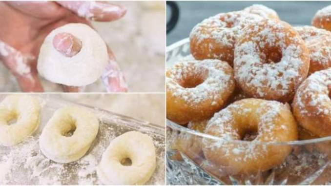 Домашні пончики на кефірі за 5 хвилин. На сніданок до чаю, смачно і швидко