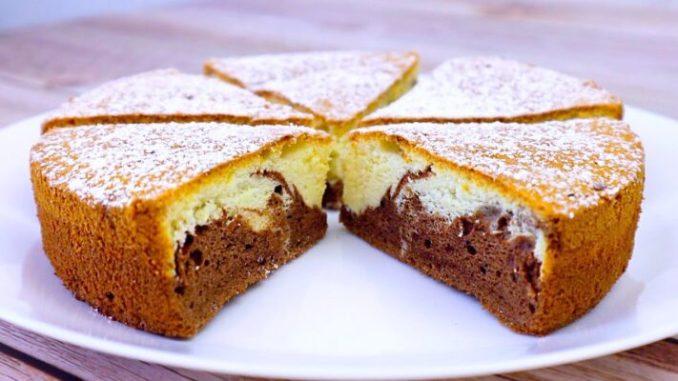 Пиріг до чаю, коли зовсім немає часу: дуже смачний і красивий в розрізі