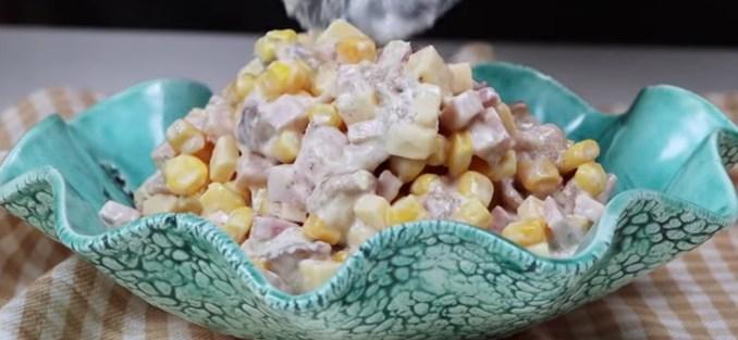 """Салат """"Хвилинка"""" з грибами — всього 4 інгредієнти! У скарбничку новорічних рецептів!"""