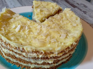 Торт ПЛОМБІР — смак дитинства. Без духовки і печива!