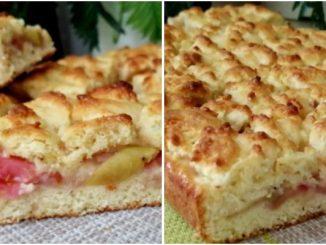 Ніжний, розсипчастий пиріг з яблуками – начинки багато, але вона не тече