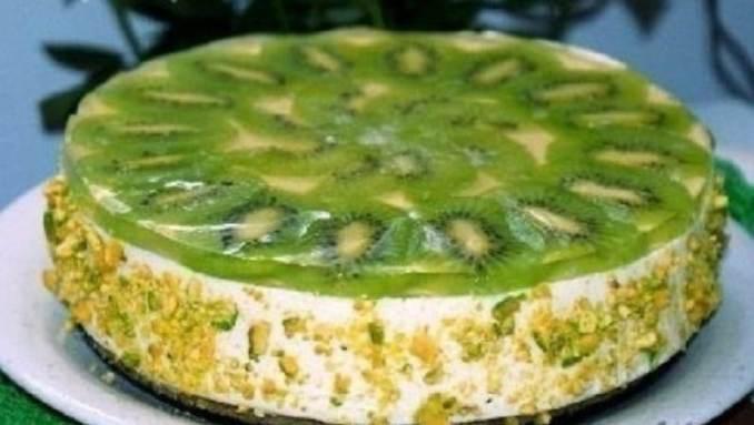 Легкий сирний торт з ківі без випічки. Зимовий варіант сирного десерту!