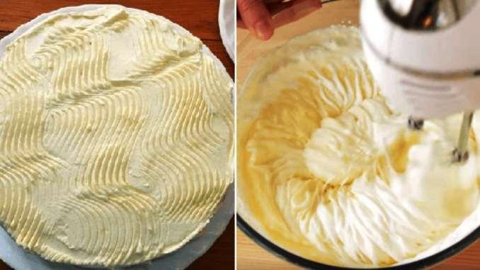 Крем «Пломбір» ніжний і повітряний. На смак, як морозиво. Підходить для всіх десертів і тортів