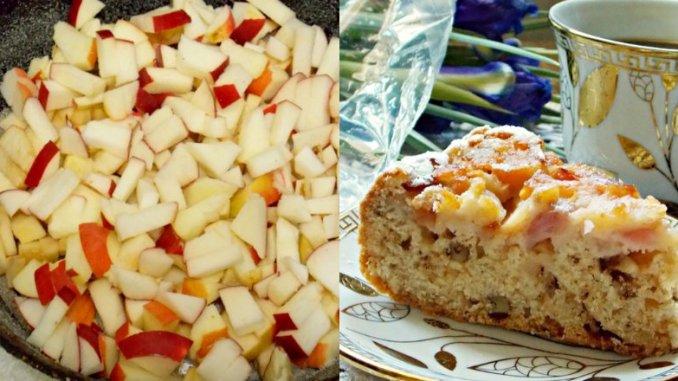 Готую під час посту! Пісна шарлотка з яблуками — пиріг виходить високим, розсипчастим і ніжним.