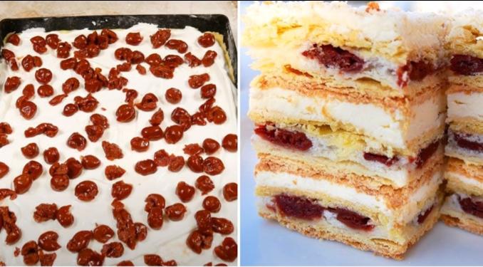 Рецепт найніжнішого вишневого торта із заварним кремом. Просто тане в роті!