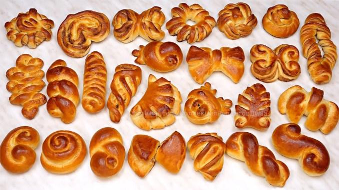 Ох, ці булочки! 25 способів формування домашніх здобних булочок! Формуємо прості цукрові булочки