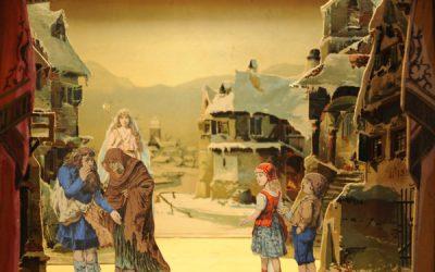 """""""Die Weihnachtsfee"""" ein Zaubermärchen fürs Papiertheater von 1890"""
