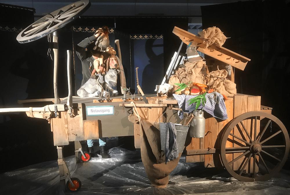 Die Bühne der Bremer Stadtmusikanten entsteht