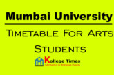 Mumbai University results of Arts students