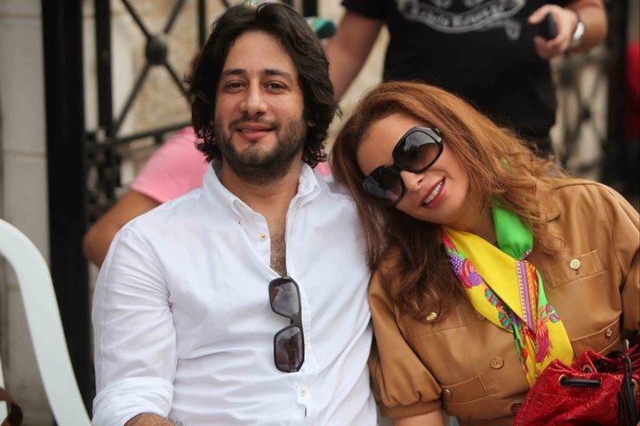 أمل حجازي وزوجها