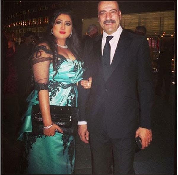 محمد سعد وزوجته