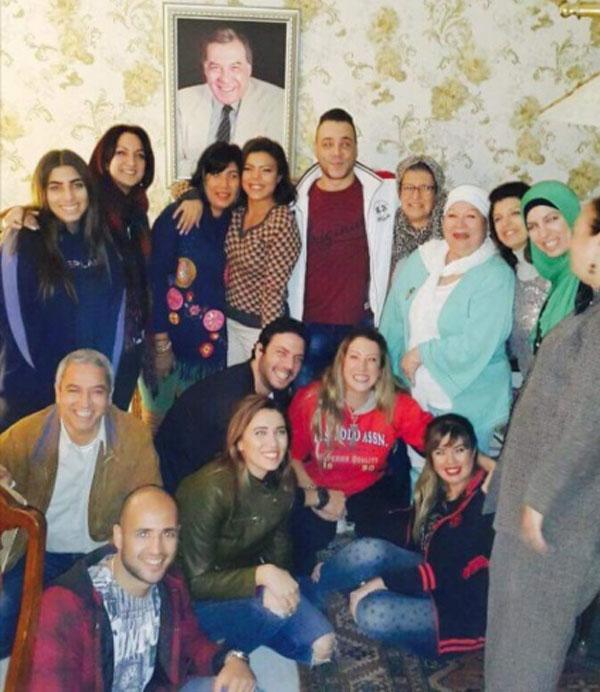 ناهد السباعي و عائلة فريد شوقي