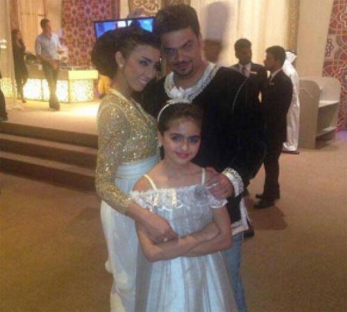 حلا الترك ووالدها وزوجته دنيا بطمة