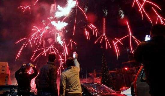 احتفالات رأس السنة ببيروت لبنان