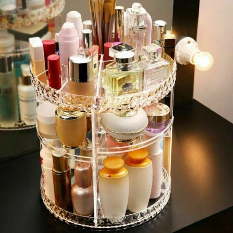 Rotating Crystal Cosmetic Storage Box