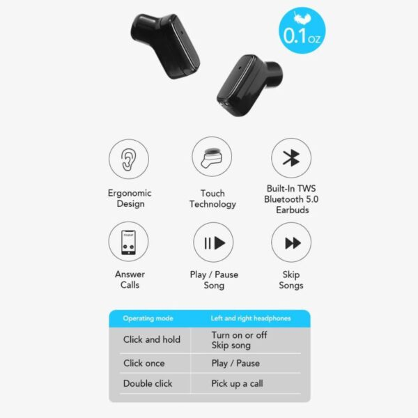 Double Bluetooth Earphone Bracelet, Folding Paste Charging Mobile Power Bank